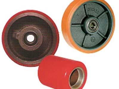 Fábrica y venta de revestimiento de ruedas y rodillos en plástico, goma, caucho y poliuretano